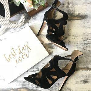Zara Basic ankle strap heels sz 39